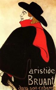 02_Aristide Bruant dans son cabaret, litografia a colori, ma