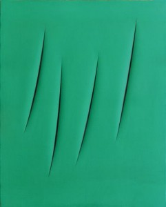 Lucio Fontana, Concetto spaziale - Attese, 1966, idropittura su tela, 81x65.5cm