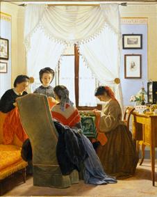 03_Odoardo Borrani, Cucitrici di camicie rosse (1863), già collezione Edoardo Bruno