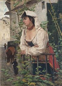 23_Fattori - Ciociara (ritratto di Amalia Nollemberg)
