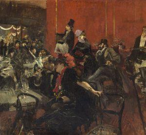 Giovanni Boldini, Scène de fête aux Folies-Bergères, vers 1889, Huile sur Toile, 96,8 x 104,7 cm, Paris, Musée d'Orsay