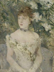 Berthe Morisot, Jeune fille en tenue de bal, 1879
