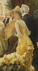 James Tissot, Le Bal, vers 1878, Huile sur toile, 90 x 50 cm, Paris, Musée d'Orsay, ©